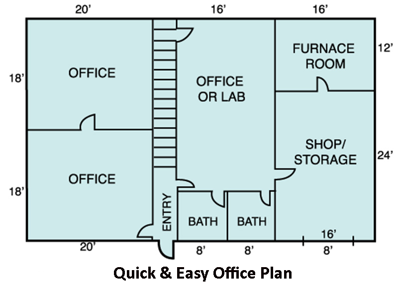 Office layouts drawpro - Office floor plan design software ...