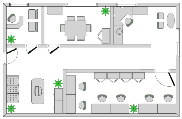 Office layouts drawpro for Office planning software