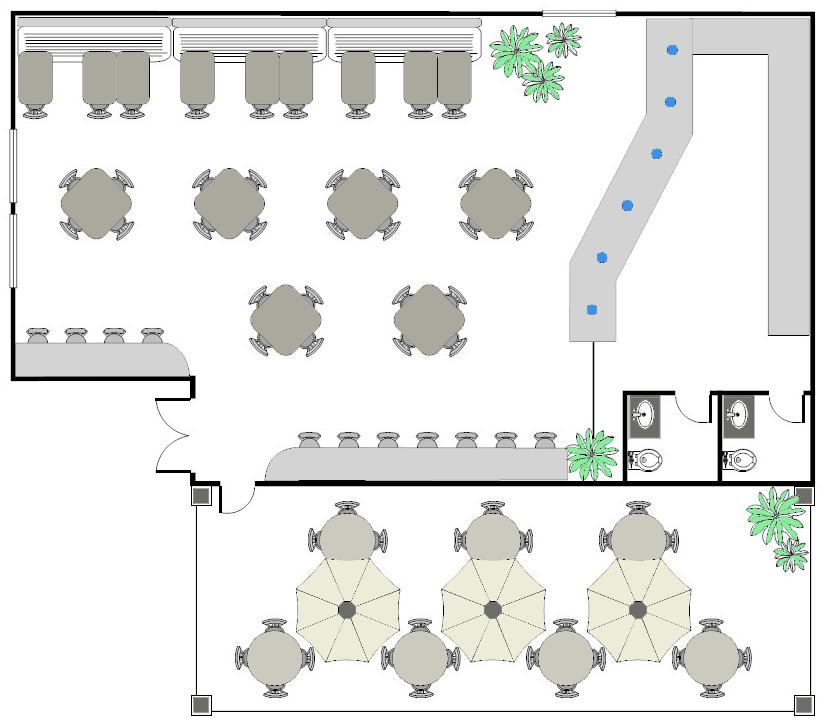 Restaurant drawpro for Restaurant layout design software