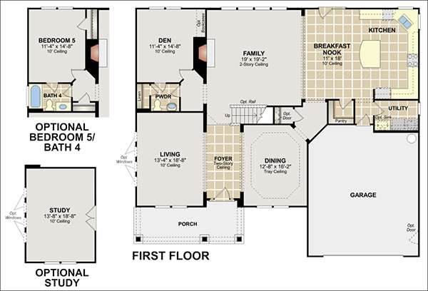 Railroad style apartment floor plan create online floor for Easy floor plan software