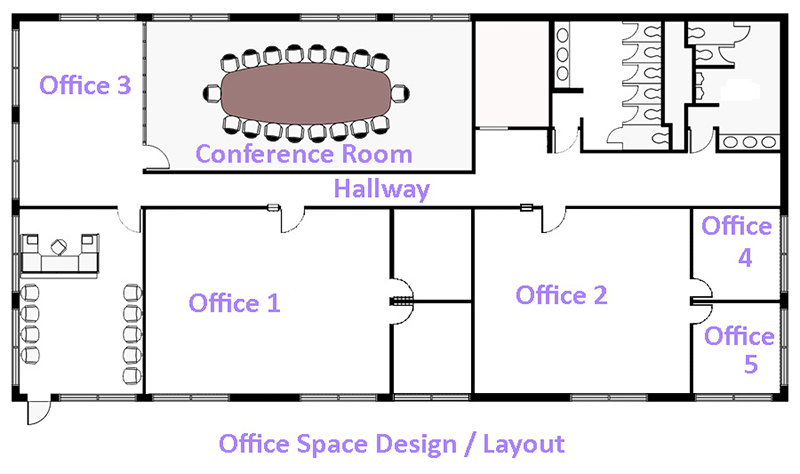 Office design software design a stunning office with for Great office layouts