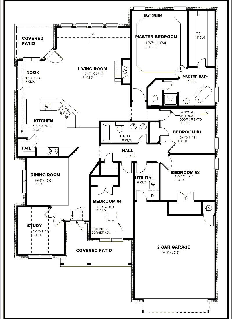 Home designs architectural drawing Architectural floor plans
